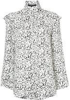 Derek Lam Long Sleeve Button-Down Blouse With Ruffle Detail