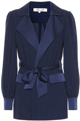 Diane von Furstenberg Stassie satin crApe jacket