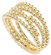 Lagos 18K Gold Covet Caviar Beaded Multi Row Band Ring