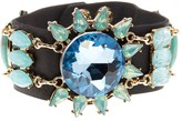 Natasha Accessories Stone & Crystal Leather Bracelet