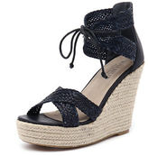 Walnut Melbourne New Rio Wedge Navy Womens Shoes Dress Sandals Heeled