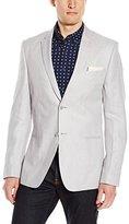 Calvin Klein Men's Premium Textured Linen Blazer, Grey Violet