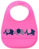 B.ella Tunno March of the Elephant Silicone Wonder Bib in Fuchsia