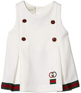 Gucci Kids Technical Jersey Dress (Infant) (White/Multicolor) Girl's Clothing