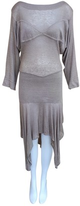 Alaã ̄A AlaAa Beige Linen Dresses
