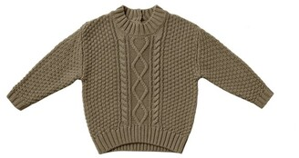 Quincy Mae Baby Cable Knit Sweater - Olive Size 6 - 12 Months