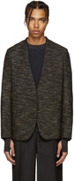 Maison Margiela Black Deconstructed Tweed Blazer