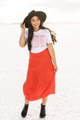 Gibson Roselyn A-Line Midi Skirt