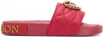 Dolce & Gabbana Embellished Heart Slides