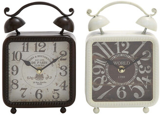Uma Enterprises Set Of 2 Desk Clocks