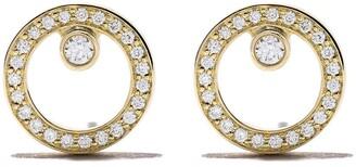 Georg Jensen 18kt yellow gold Halo brilliant cut diamond earrings