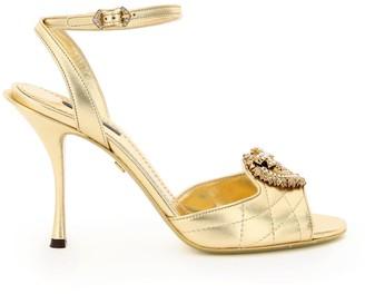 Dolce & Gabbana Keira Devotion Leather Sandals