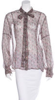 RED Valentino Floral-Print Silk Top