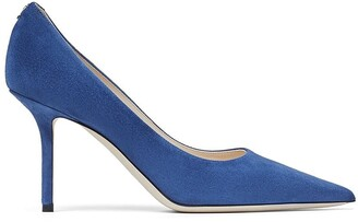 Jimmy Choo Love suede pointed-toe pumps 85mm