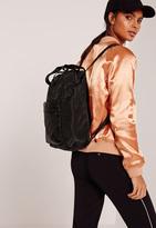 Missguided Black Sleek Sporty Backpack