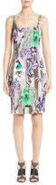 Versace Women's Print Scoop Neck Dress