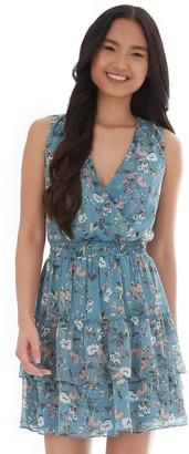 Iz Byer Juniors' Exposed Ruffled Tiered Dress
