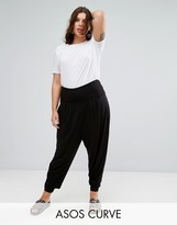 Asos Harem Pants with Foldover Waistband In Jersey