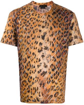 Versace leopard print signature T-shirt