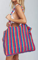MUMU Terry Cloth Tote Bag ~ Stripe Up Your Life Terry