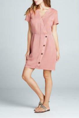 Sinuous Wrap button down dress