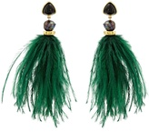 Lizzie Fortunato Parker feather-drop earrings