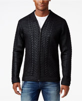 GUESS Men's Coated Bomber Jacket