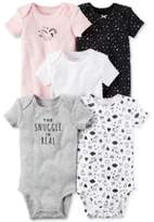 Carter's 5-Pk. Cotton The Snuggle Is Real Bodysuits, Baby Girls (0-24 months)