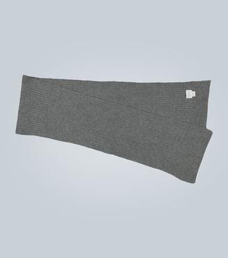 Sunspel Lambswool rib knit scarf