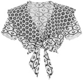 Temperley London Lizette Tie Front Ruffle Shirt
