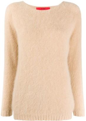 Roberto Collina Boat Neck Textured Sweater