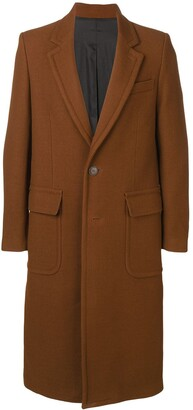 Ami Patched Pockets Long Lined Coat