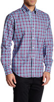 Tailorbyrd Cranberry Long Sleeve Checkered Shirt