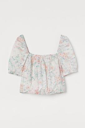 H&M Short Cotton Top - Pink