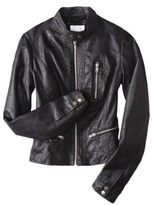 Xhilaration Junior's Faux Leather Motorcycle Jacket -Assorted Colors
