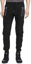 The Kooples Patch Classic Fleece Slim Fit Biker Pants
