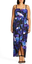 City Chic Plus Size Women's Hydrangea Print Maxi Dress