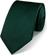 Charles Tyrwhitt Green silk classic plain tie