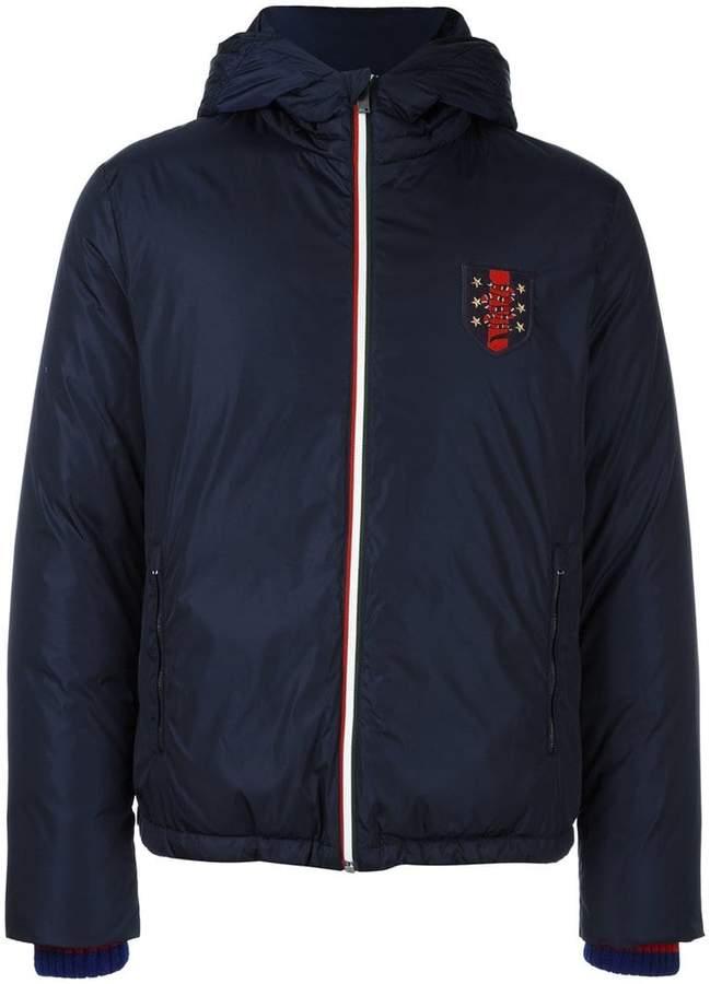 Gucci Web patch padded jacket