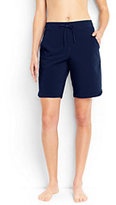 "Lands' End Women's Long 9"" Board Shorts with Panty-Deep Sea"