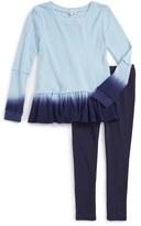 Splendid Girl's Dip Dye Thermal Tunic & Leggings Set