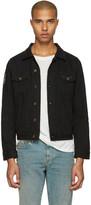 Saint Laurent Black Denim Patch Jacket