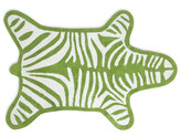 Jonathan Adler Zebra Bath Mat - Green