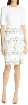 Ted Baker Pattern Mix Body-Con Dress