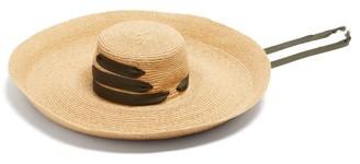 Lola Hats Espartina Grosgrain-trim Raffia Hat - Khaki Multi