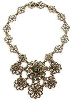 Miriam Haskell Bronzetone Beaded Bib Necklace