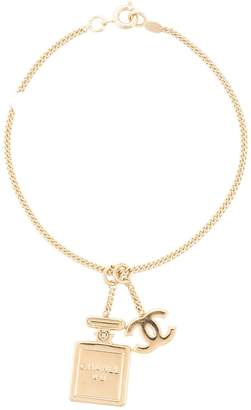 Charm & Chain Chanel Pre Owned CC perfume charm chain bracelet