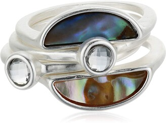 Lucky Brand Jewelry Abalone Stack Ring Set