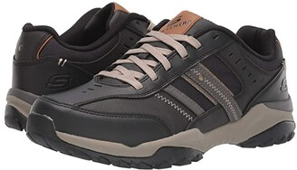 Skechers Relaxed Fit Henrick - Delwood (Black) Men's Shoes