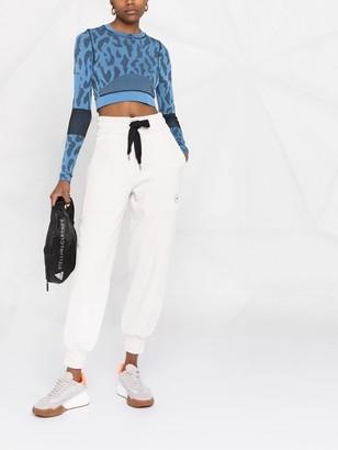 adidas by Stella McCartney TruePurpose leopard-print crop top